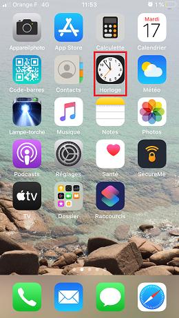 """Une application type """"Horloge"""" est présente sur tous les téléphones"""